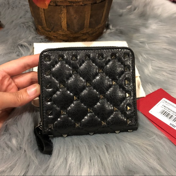 93aeb8cd7e Valentino Bags | New Rockstud Spike Compact Wallet | Poshmark